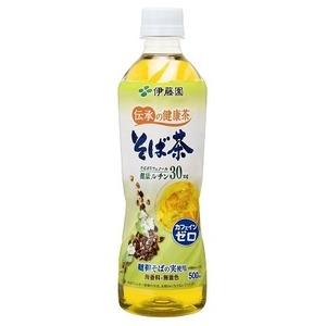 【まとめ買い】伊藤園 伝承の健康茶 そば茶 500ml×48本(24本×2ケース) ペットボトル