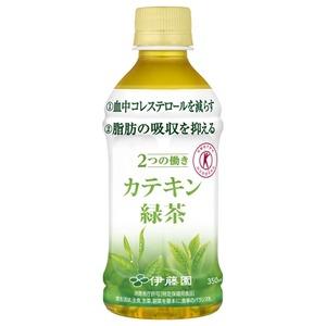 【まとめ買い】伊藤園 2つの働き カテキン緑茶 電子レンジ対応 HOT&COLD PET 350ml×24本(1ケース)