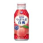 【まとめ買い】不二家ネクター つぶつぶ白桃 ボトル缶 380g 48本入り(24本×2ケース)