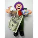 【エケコ人形19cm】L サイズのエケコ人形・色はグリーン(緑色) 当店モデル(ペルー直輸入)