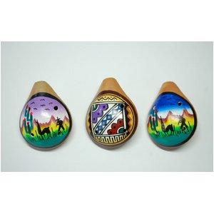 【民芸品】陶器のオカリナ小 1個 タイプ03 南米ペルー製 陶器(セラミカ)
