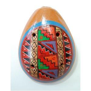 【民芸品】陶器のオカリナ大 1個 タイプ02【インカ】 南米ペルー製 陶器(セラミカ)