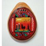 【民芸品】陶器のオカリナ大 1個 タイプ03【夕日】 南米ペルー製 陶器(セラミカ)