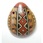 【民芸品】陶器のオカリナ大 1個 タイプ06【インカ】 南米ペルー製 陶器(セラミカ)