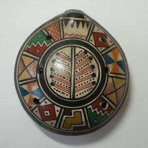 【民芸品】陶器のオカリナ特大 1個 タイプ01 南米ペルー製 陶器(セラミカ)