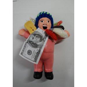 【エケコ人形15cm】【TYPE:3】うすいピンク色(桃色) 女性に人気!(ペルー直輸入)