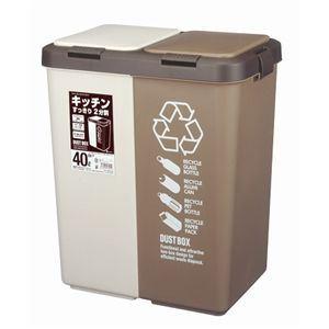 カラー分別ツインプッシュ40L 【ホーム&キッチン ゴミ箱】