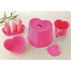 ハート 風呂イス 5点セット ピンク
