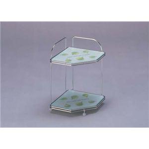 強化ガラス製コーナーラック