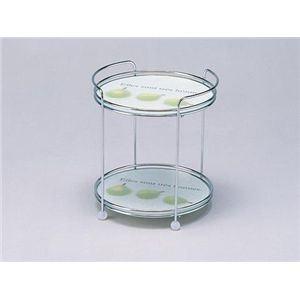 強化ガラス製テーブルセンター2段