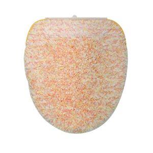 ヨコヅナ(旧:横綱工業) トイレフタカバー キャンディフロス 洗浄便座用 オレンジ