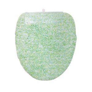 ヨコヅナ(旧:横綱工業) トイレフタカバー キャンディフロス 洗浄便座用 グリーン