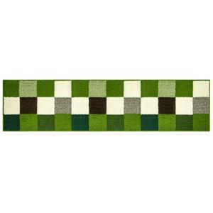 オカトー 休足力インテリアマット 45×180cm ブロックグリーン