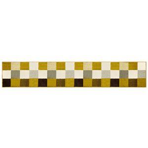 オカトー 休足力インテリアマット 45×252cm ブロックブラウン
