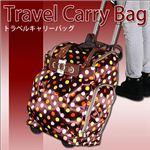 【国内旅行に】機能性抜群。収納力も文句無し!注目度抜群! 旅行のお供に トラベルキャリーバッグ・小 茶1個