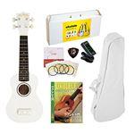 AlaMoana  ギアペグ式 ウクレレ 教則DVD付き6点セット グロスフィニッシュ ホワイト UK-100G/WH-G