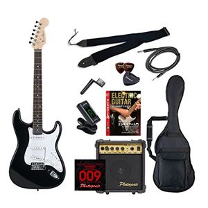 PG エレキギター 初心者入門エントリーセット ストラトキャスタータイプ ST-180/BK ブラック