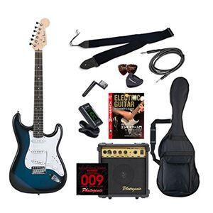 PG エレキギター 初心者入門エントリーセット ストラトキャスタータイプ ST-180/BLS ブルーサンバースト