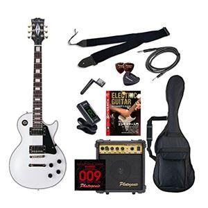 PG エレキギター 初心者入門エントリーセット レスポールカスタムタイプ LP-300/WH ホワイト