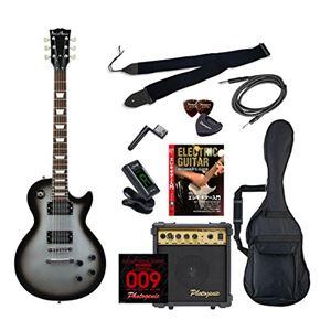 PG エレキギター 初心者入門エントリーセット レスポールタイプ LP-260/SVB シルバーバースト