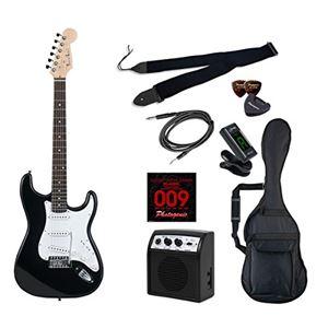 PG エレキギター 初心者入門ライトセット ストラトキャスタータイプ ST-180/BK ブラック