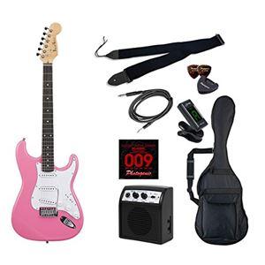 PG エレキギター 初心者入門ライトセット ストラトキャスタータイプ ST-180/PK ピンク