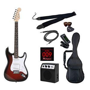 PG エレキギター 初心者入門ライトセット ストラトキャスタータイプ ST-180/RDS レッドサンバースト
