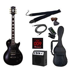 PG エレキギター 初心者入門ライトセット レスポールカスタムタイプ LP-300/BK ブラック