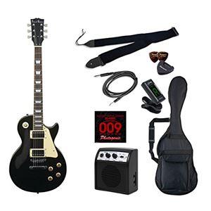 PG エレキギター 初心者入門ライトセット レスポールタイプ LP-260/BK ブラック
