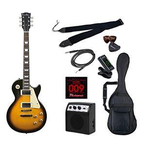 PG エレキギター 初心者入門ライトセット レスポールタイプ LP-260/BS ブラウンサンバースト