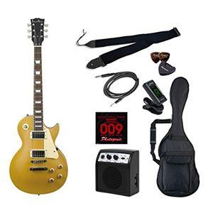 PG エレキギター 初心者入門ライトセット レスポールタイプ LP-260/GD ゴールド