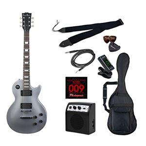 PG エレキギター 初心者入門ライトセット レスポールタイプ LP-260/SV シルバー