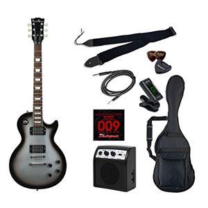 PG エレキギター 初心者入門ライトセット レスポールタイプ LP-260/SVB シルバーバースト