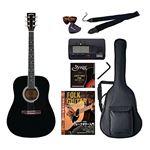 Sepia Crue アコースティックギター バリューセット ウェスタンタイプ WG-10/BK ブラック