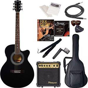Sepia Crue  エレクトリックアコースティックギター エントリーセット EAW-01/BK ブラック