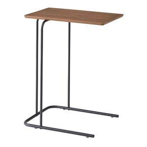 デザインサイドテーブル/ミニテーブル 【幅35cm】 スチールフレーム ブラウン 『アーロン』 END-222BR