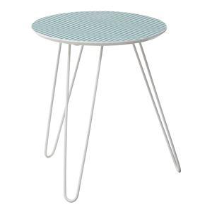 サイドテーブル/丸型ミニテーブル 【KOT-711A】 直径40cm×高さ47cm スチール脚