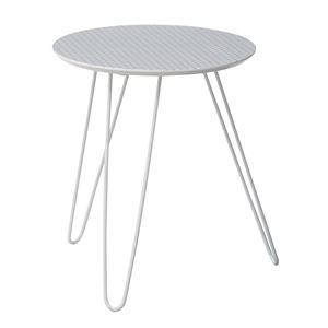 サイドテーブル/丸型ミニテーブル 【KOT-711B】 直径40cm×高さ47cm スチール脚