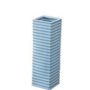 陶製傘立て/アンブレラスタンド 【ブルー】 幅15cm×奥行15cm×高さ45cm 陶器 『フロット』 LFS-113BL