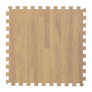 木目調ジョイントマット/プレイマット 【30cm×30cm】 9枚×3セット(計27枚) ナチュラル カット可