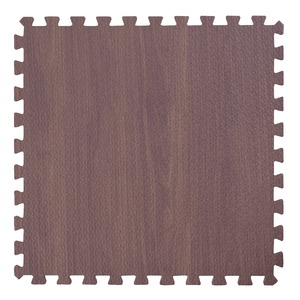 木目調ジョイントマット/プレイマット 【30cm×30cm】 9枚×3セット(計27枚) ブラウン カット可