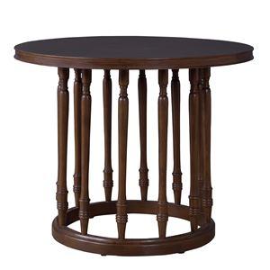天然木ラウンドテーブル/花台 【直径90cm】 木製 円形 木目調 〔ディスプレイ用品 インテリア家具 什器〕