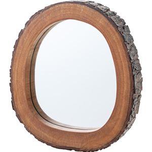 ウッドミラー/姿見鏡 【S型 幅30cm】 木製 マホガニー 3mmミラー ウレタン塗装 〔ベッドルーム ドレッサー 洗面台〕