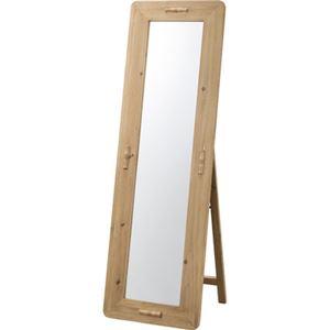 北欧風 スタンドミラー/全身姿見鏡 【幅48×奥行45×高さ149cm】 木製 ラッカー塗装 飛散防止 〔ベッドルーム 寝室〕