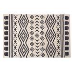 エスニック調 ラグマット/絨毯 【170×230cm TTR-171B】 長方形 綿100% インド製 収納袋付き 〔リビング ダイニング〕