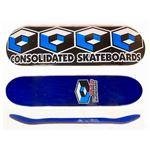 コンソリデーテッド TEAM 4キューブ スケートボードデッキ