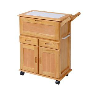 天然木キッチンワゴン ライトブラウン ZFC-0054-LBR