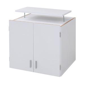 『ロッカーシリーズ』専用 上置き棚 【ホワイト 幅59.5cm】 地震対策用天井つっぱり 扉収納付き 『ロッカーシリーズ』