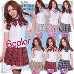 【6color】蝶リボンのスクールコスプレ・学生服 ピンク