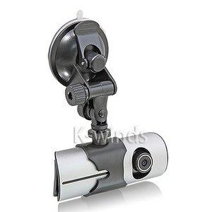 【防犯用】GPS・Gセンサー対応Wレンズ車載カメラ